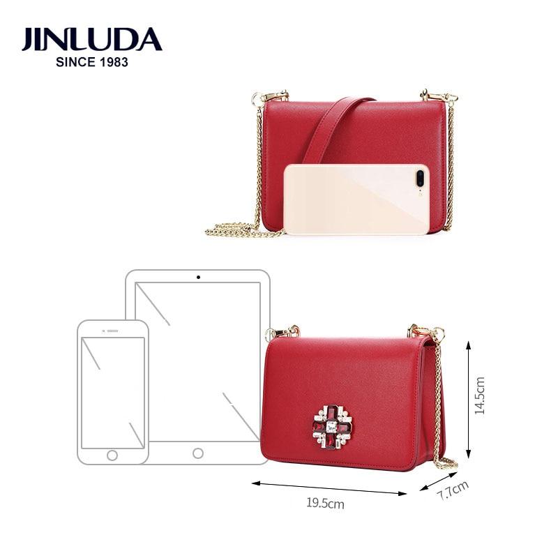 Nya Designer Märke Diamond Bags Kvinnor Cow Läder Kedja Solid - Handväskor - Foto 3