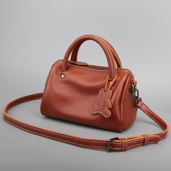 Trendy casual women leather handbags Premium Litchi pattern Hand bag Mini bag Simple Calfskin Shaped women Messenger bag in Shoulder Bags from Luggage Bags