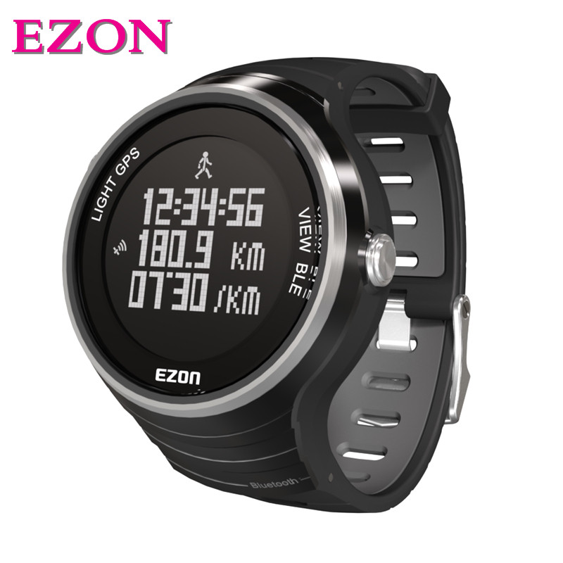 2016 Top Selling EZON G1A01 GPS Bluetooth Smart Intelligent Sports Digital Smart Watch for IOS7.0 Android4.3 Phone 2016 01