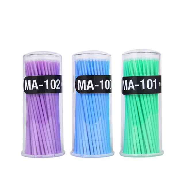 100Pc/Bottle Microblading  Disposable Tattoo Brushes Individual Lash Removing Tools Swab Micro brushes Eyelash Extension Tools 4