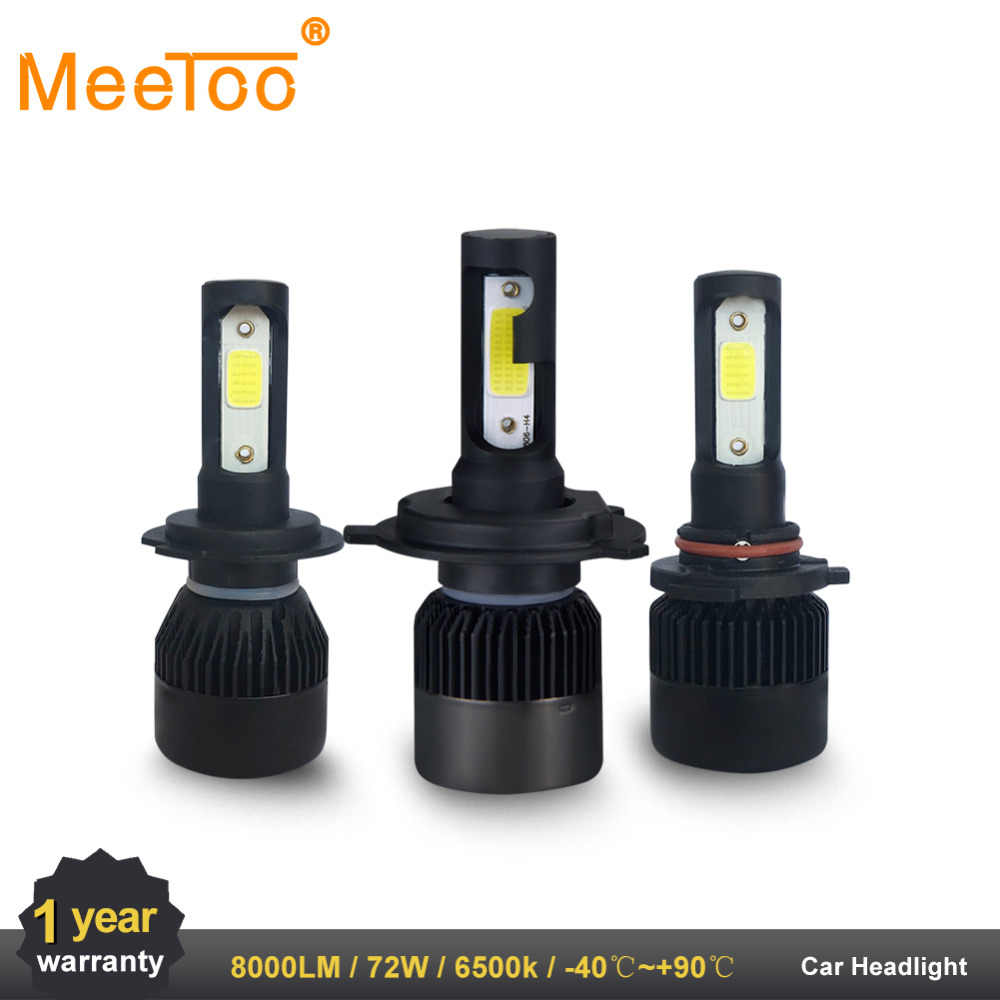 2PC LED Car Light H7 H4 LED H1 H3 HB4 9005 9006 9012 Headlight Driving Passing Beam Fog Light Replacement for Cars Headlamp