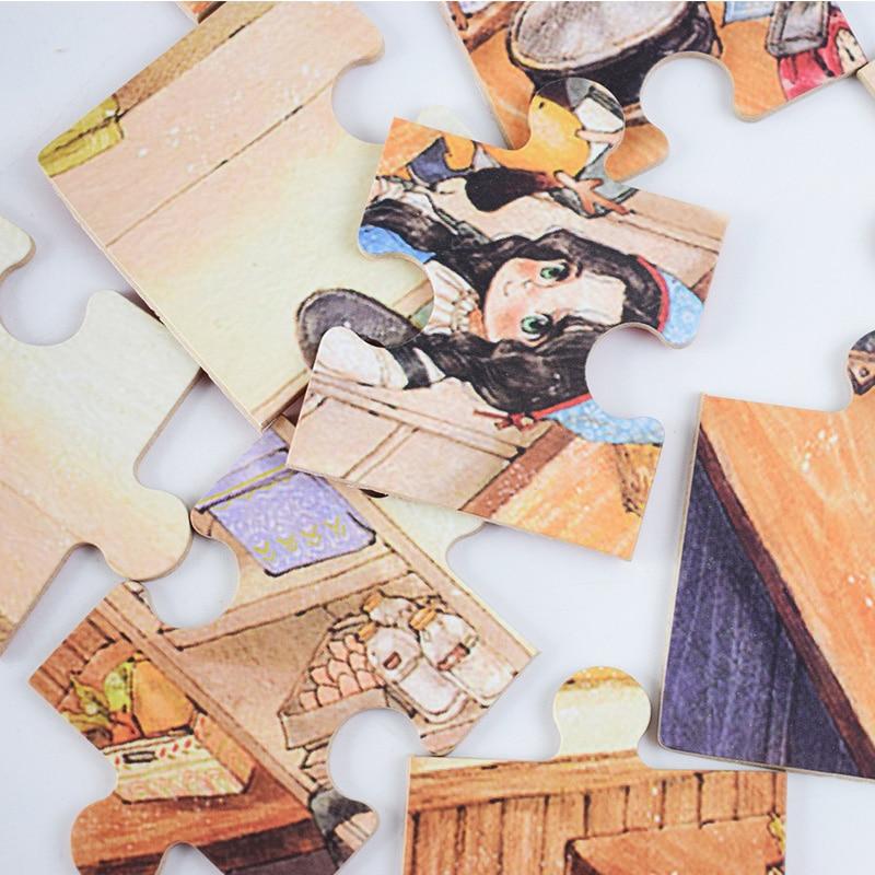 Crianças Brinquedo de Madeira Puzzle Tamanho Pequeno 15*15 centímetros Puzzles Brinquedo Educativo Jigsaw Puzzle de Madeira Para Crianças Bebê Dos Desenhos Animados - 5