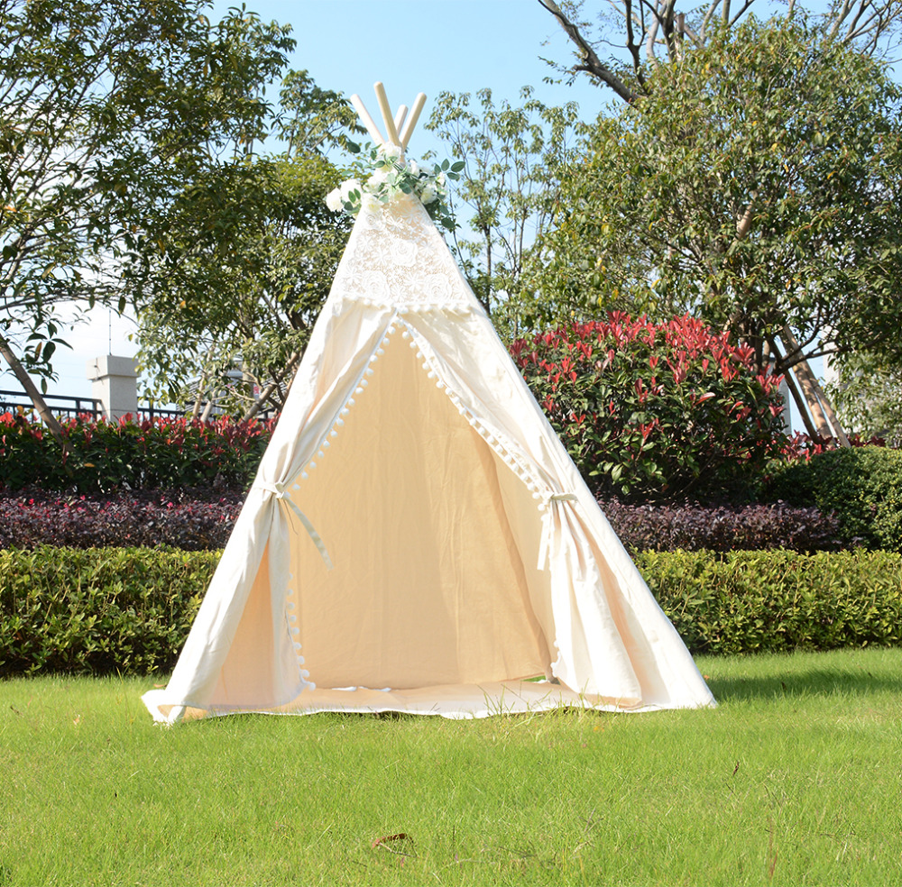 Love Tree Wigwam Lace Dream Tent Indian Play Tent For Kids Large Teepee Tents free shipping kid tent indian teepee tents