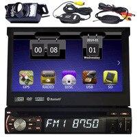 Car PC Radio Stereo 1 Din Autoradio Receiver Bluetooth DVD GPS Navigation Aux FM AM RDS Car Headunit DVD steering wheel control