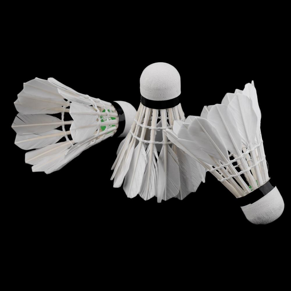 Weitere Ballsportarten 5Pcs Game Sport Training White Duck Feather Shuttlecocks Birdies Badminton BallD Badminton