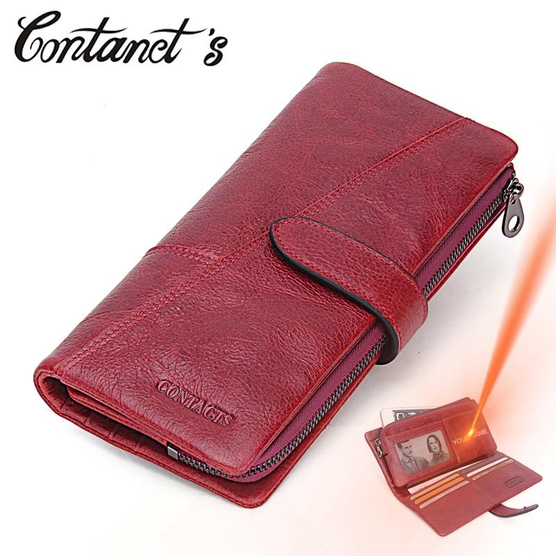 Women Wallet Luxury Brand Genuine Leather Long Female Clutch Wallet High Capacity Ladies Purse Design Money