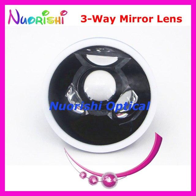 SL13 עיניים גולדמן שלוש 3 דרך מראה הפונדוס סדק מנורת עדשות מגע שחור עור מתכת מקרה ארוז משלוח חינם