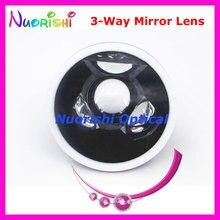 SL13 Oogheelkundige Goldman Drie 3 Way Mirror Fundus Slit Lamp Contact Lens Zwart Lederen Metal Case Verpakt Gratis Verzending