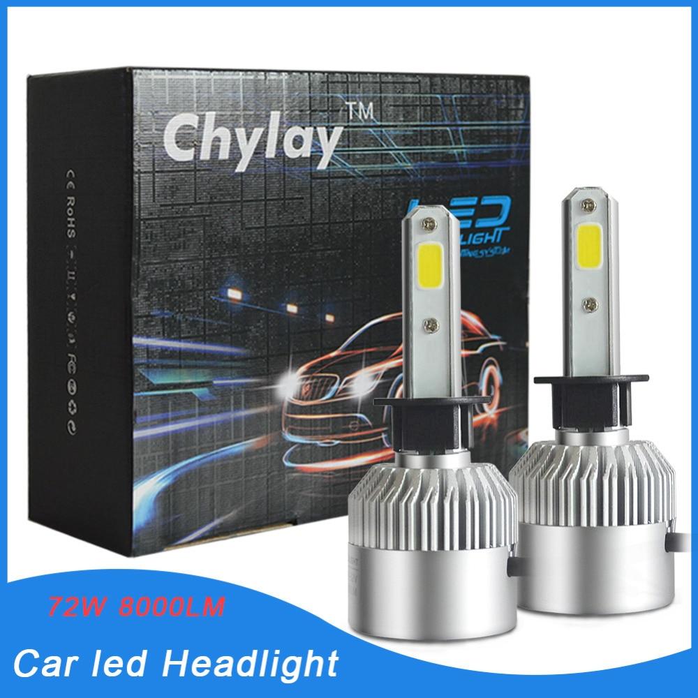 egy pár H1-es autó fényszóró izzó led automatikus első lámpa - Autó világítás - Fénykép 1