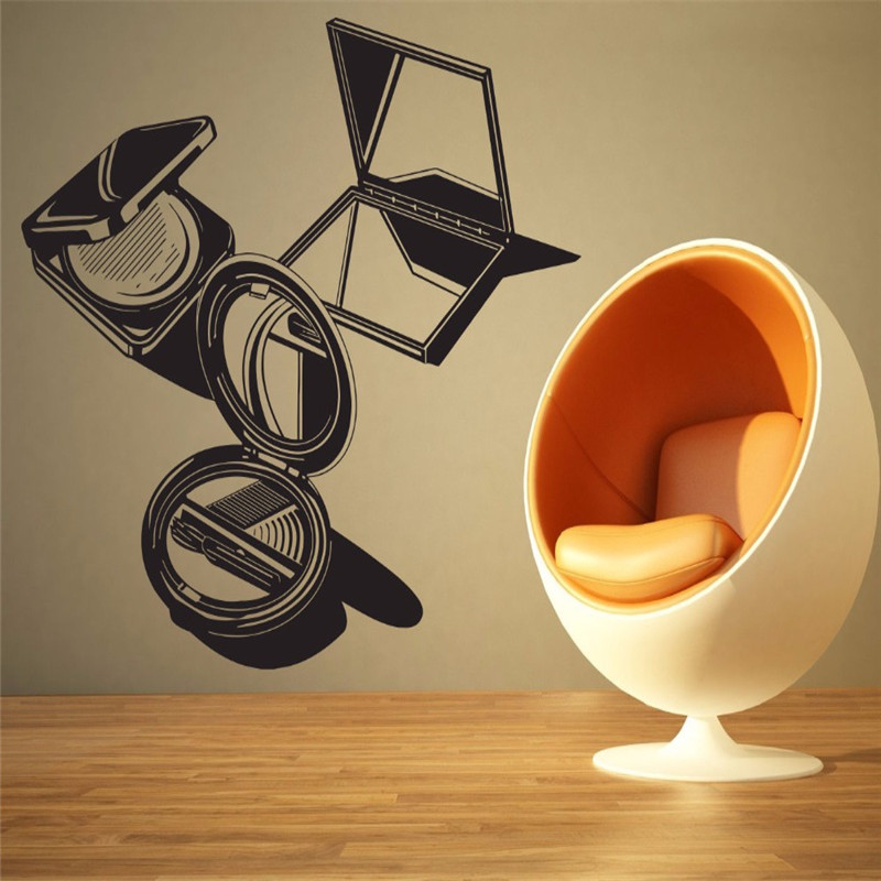 Grooming Salon Decal Beauty Salon Wall Room Decor Barber Shop Make up Tools Sign Logo Removable Vinyl Art Wall Sticker