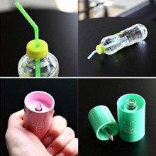 Bottle Opener Tools Drink Punch Mini Water Drill Bottle Opener Bottle Cover Hole Punch Opener For Straw For Party Random Color