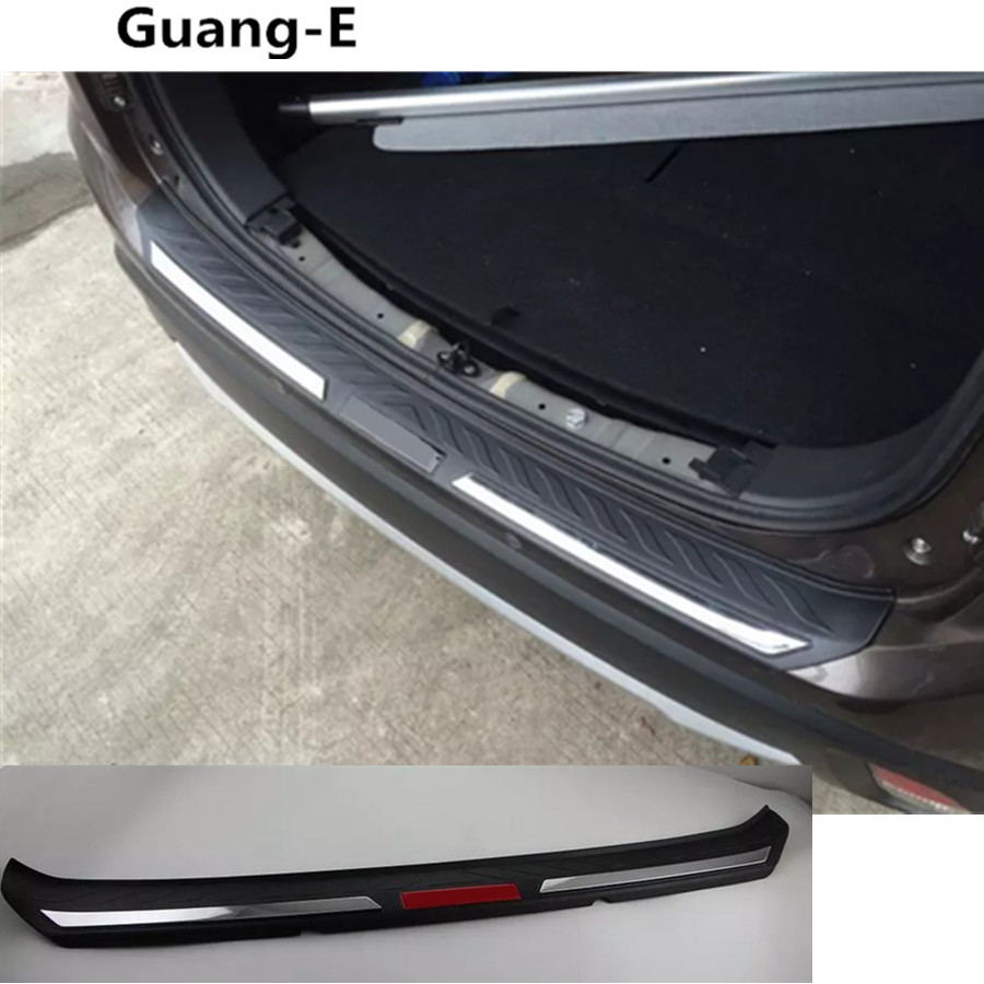 Top Quality car body external rear bumper Protect trunk trim cover plate pedal threshold For Mitsubishi Outlander 2016 2017 2018 for mitsubishi outlander 2013 2014 2015 rear trunk security shield cargo cover high qualit car trunk shade security cover