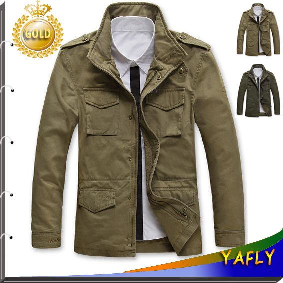 267307ac4b453 2015 New Style Jackets For Men Coats Autumn and Winter Coat Brand Casual  Coat Mens Jacket Fashion Military Jacket Men overcoat