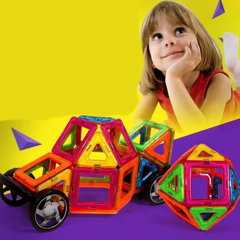 Hot! 42Pcs/Set Magnetic Designer Building Blocks Models & Building Toy Plastic DIY Bricks Children Learning & Educational Toys 62pcs set magnetic building block 3d blocks diy kids toys educational model building kits magnetic bricks toy
