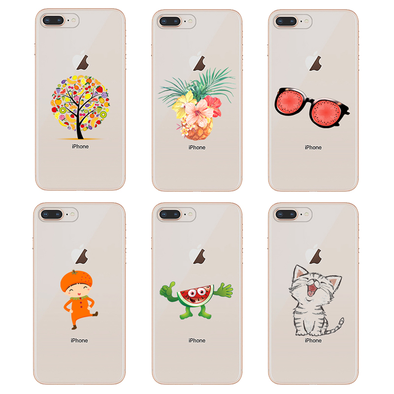 For iPhone 5 Cat Case Cute Pattern Capa For iPhone 5S Case Silicon TPU Cover For iPhone SE Case For iPhone 5 5S SE Phone Cases