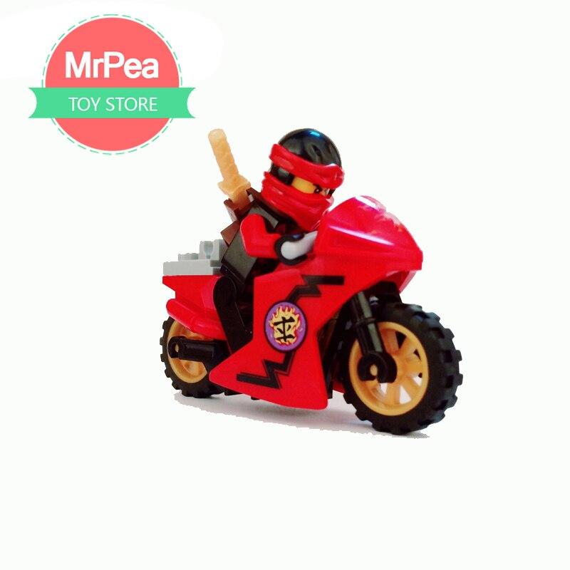 Legoings Призрак ниндзя серии wu, Кай, Джей, добавить полный, любит и так далее мотоцикл мужчина подходит для детей играть с палец игрушки