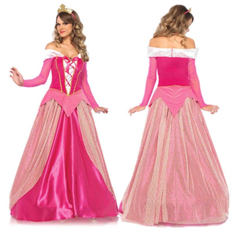 Pink Sexy Aurora Sleeping Beauty Dress Halloween Costume -2104