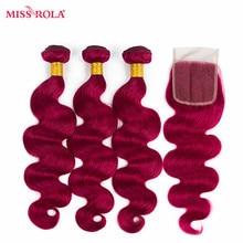 Miss Rola font b Hair b font Pre colord Peruvian Body Wave font b Hair b