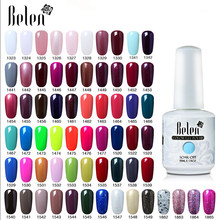 Belen 15ml Gelpolish Nail Gel Soak Off UV LED Gel Nail Varnishes Manicure Semi Permanent DIY Nail Art Beauty Design Lacquer(China)
