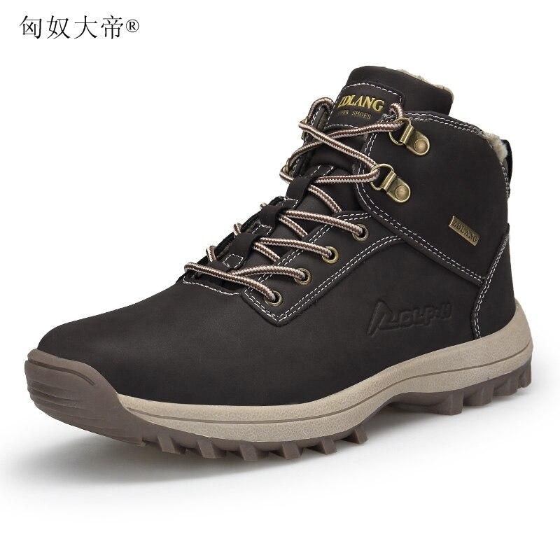 100% Wahr 39-46 Männer Stiefel Plüsch Warme Winter Männer Schuhe Große Größe Anti Schleudern Winter Schuhe Männer Schwarz Braun Sicherheit Schuhe 2018
