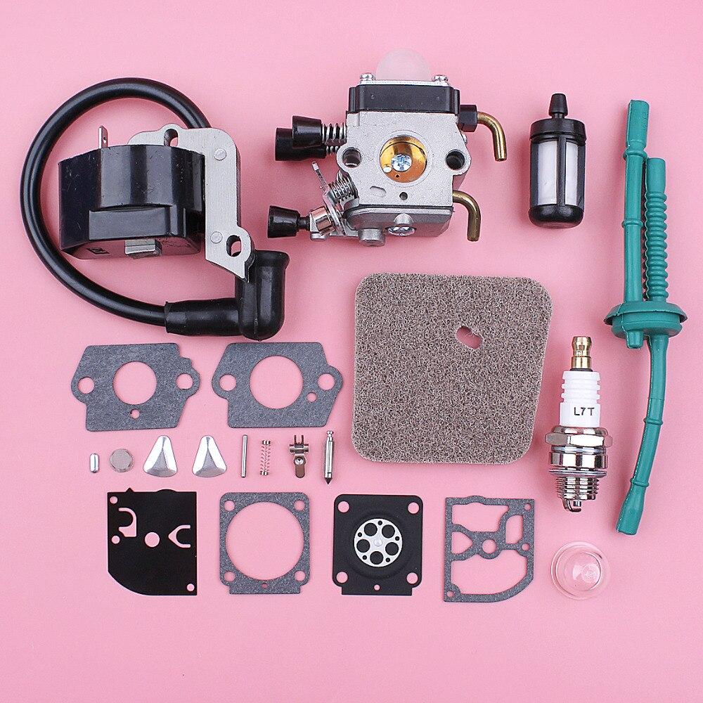 Bobine d'allumage de carburateur pour Stihl FS38 FS55 filtre à Air ligne de joint Kit de réparation taille-bordures pièce de rechange de remplacement