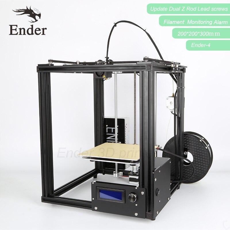 2018 Ender-4 3D комплект принтера лазерная гравировка, автоматическое выравнивание, нити мониторинга сигнализации вариант защиты Prusa i3 принтер 3D