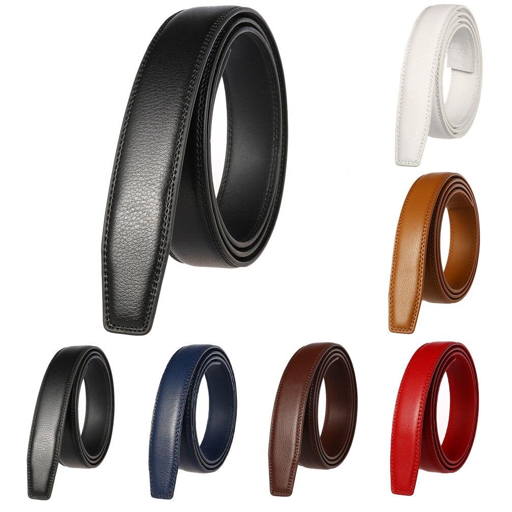 3.0cm 3.1cm Width Genuine Leather Belt No Buckle Designer Belts Men High Quality Leather Strap For Automatic Buckle CE31-3300