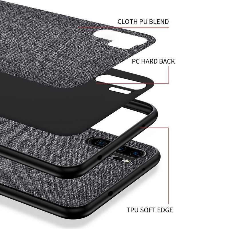 Funda para Huawei P30 P20 Pro Mate 20 Lite funda trasera dura de tela delgada para Huawei P Smart Plus 2019 Z Nova 4 4E 3i 3E
