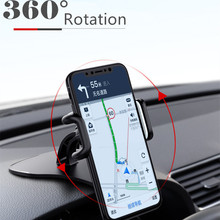Car Phone Holder Dashboard Mount Clip Mount Adjustable Phone Stand Bracket GPS for iPhone Samsung Xiaomi Huawei Universal Holder