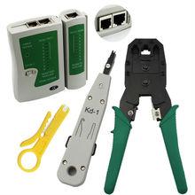 RJ11 RJ12 RJ45 CAT5 Cat6 LAN De Poche Ethernet Réseau Outil Kit Testeur de Câble À Sertir pince À Sertir Plug Pinces Lan Testeur