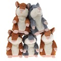 2 Colors Kawaii Talking Hamster Plush Toys Sound Record Plush Hamster Stuffed Toy for Children Kids  High Quality