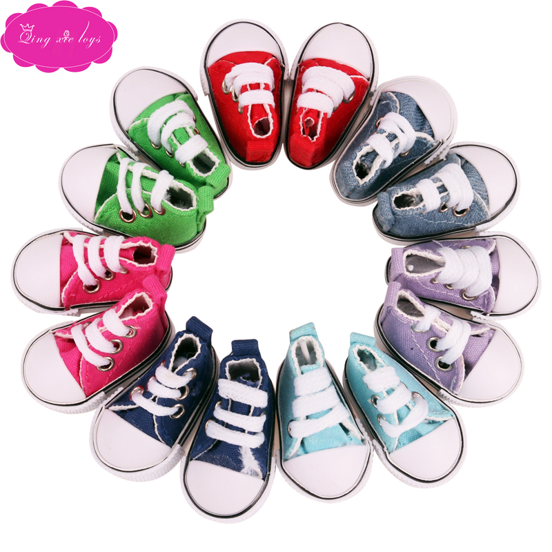 BJD <font><b>dolls</b></font> <font><b>shoes</b></font> 50 cm <font><b>doll</b></font> Double Velcro sneakers canvas <font><b>shoes</b></font> 1/4 Girl <font><b>doll</b></font> 5 cm sport <font><b>shoe</b></font> baby toys accessories b5-6 image