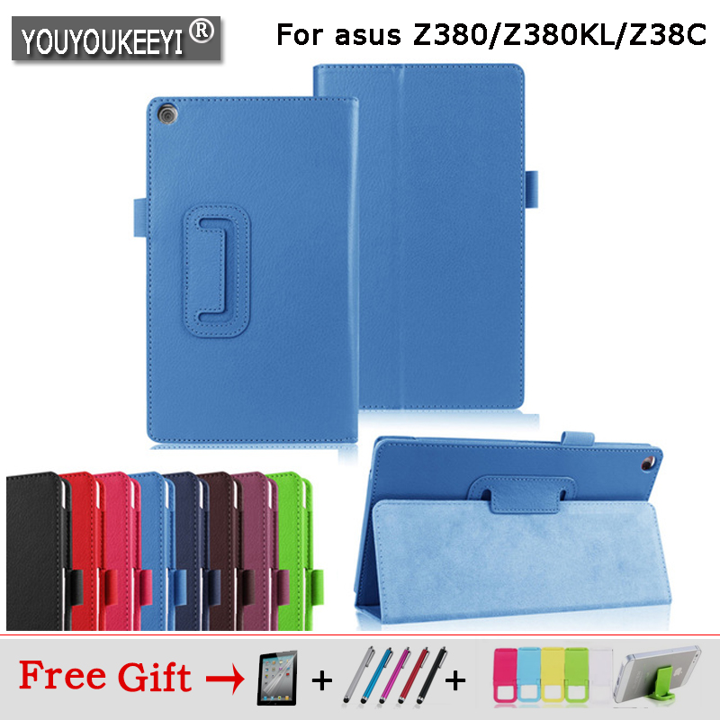 Магнитный чехол-подставка из ПУ кожи личи для Asus Zenpad 8,0 Z380 Z380C Z380KL, чехол для планшета 8 дюймов + Бесплатная доставка + подарок