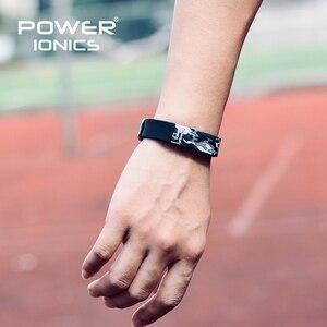 Image 5 - Power Ionics ไทเทเนี่ยม Ion F.I.R 3D Camo สร้อยข้อมือ BALANCE สายรัดข้อมือ Energy PT048