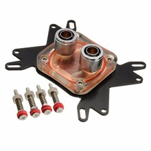 Universal Platform CPU Water Cooling Block Cooler Waterblock 50mm Copper Base Cool 10mm Dia Inner Channel for AMD