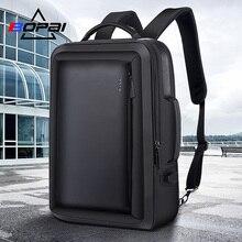 BOPAI лучший мужской деловой рюкзак для путешествий, непромокаемый тонкий рюкзак для ноутбука, школьная сумка, офисный мужской рюкзак, кожаная сумка