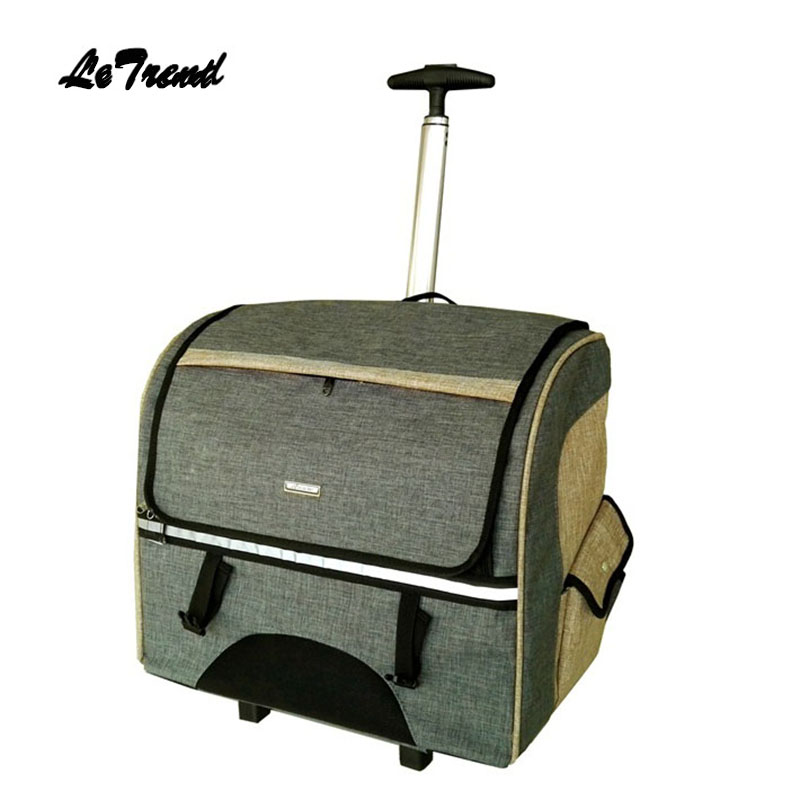 Letrend High-grade Pet Rolling Luggage Shoulders backpack Trolley Multifunction Travel Bag Carry On Women Suitcase Trunk universal uheels trolley travel suitcase double shoulder backpack bag with rolling multilayer school bag commercial luggage