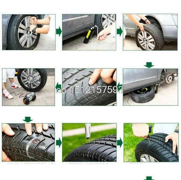 8 pieces/set Motor Mobil Sepeda Auto Tubeless Ban Ban Tusukan Plug Repair Semen Tool Kit