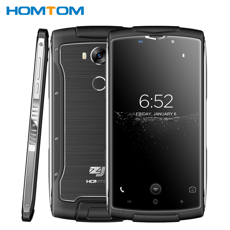Original HOMTOM ZOJI Z7 IP68 Waterproof Cell Phone 5.0 inch 2GB RAM 16GB ROM MTK6737 Quad Core Android 6.0 8MP Camera Smartphone