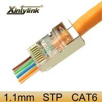 Xintylink EZ rj45 разъем ethernet кабельный разъем cat6 cat5e cat 6 rj 45 сетевой stp 8P8C позолоченный экранированный модульный 50 шт. 100