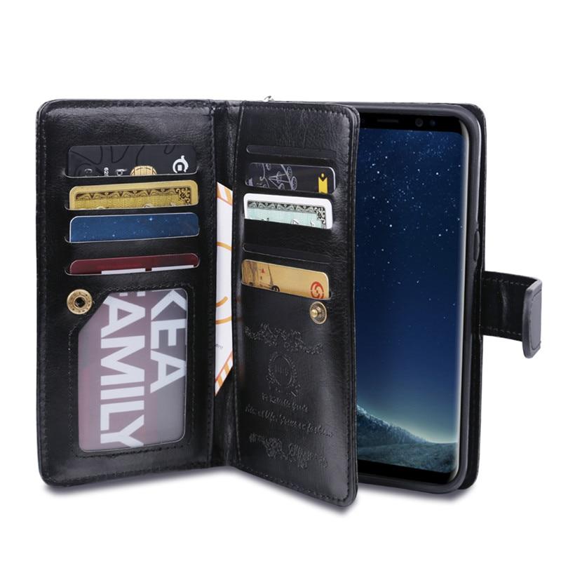 Untuk Samsung S8 Plus Kasus Dompet Mewah Kulit Flip Cover Untuk - Aksesori dan suku cadang ponsel - Foto 3