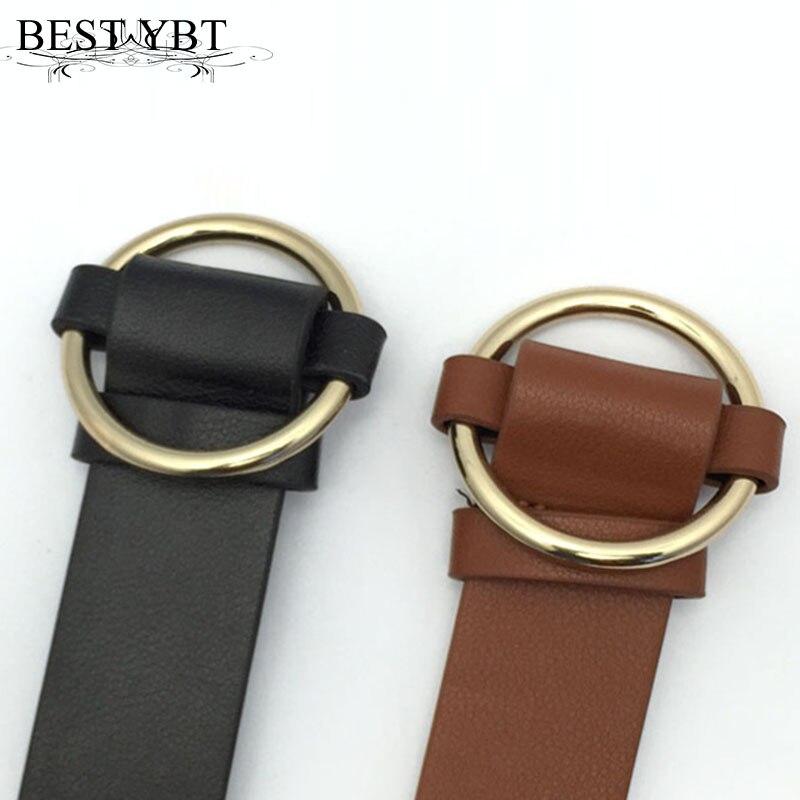 8390d19c5dd5 Meilleur YBt de Femmes Ronde boucle ceintures femelle loisirs jeans sauvage  ceinture Imitation cuir Simple Rétro décoration de femmes casual ceinture  dans ...
