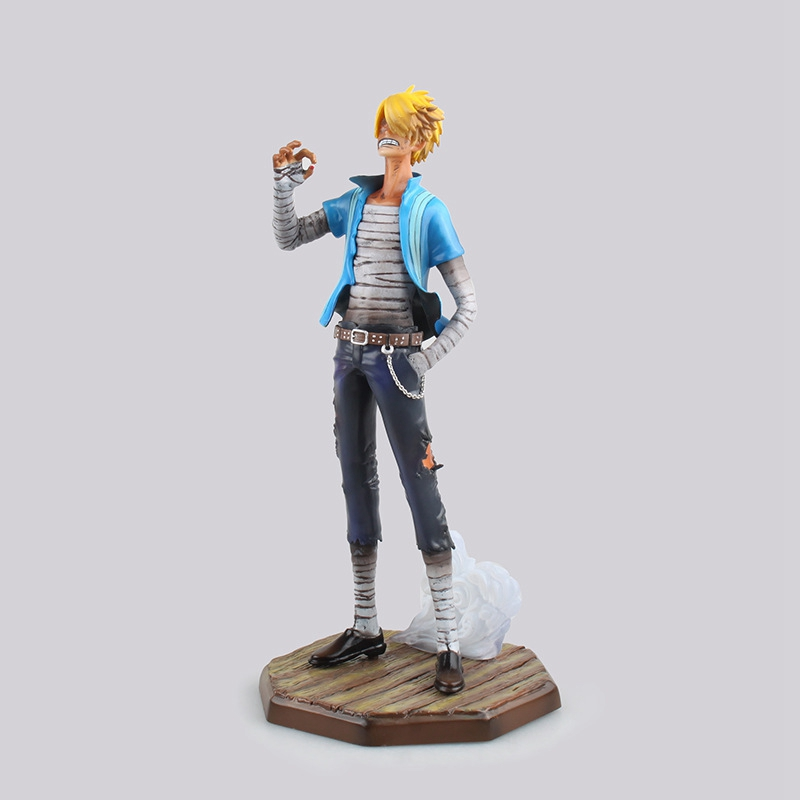 1 Pcs Anime One Piece Sanji PVC Action Figure 24 CM POP Sanji Figure Collectible Model Collrctible Toy For Boy Kids Original Box black leg sanji japan anime one piece action figure fire battle version 16cm pvc model toy with box collection doll toys f2722
