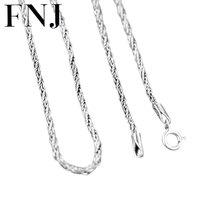 GZ 100% 925 серебро Цепочки и ожерелья для Для женщин Для мужчин ювелирные изделия Accessorice S925 тайский чистого серебра веревка украшение на длинно...