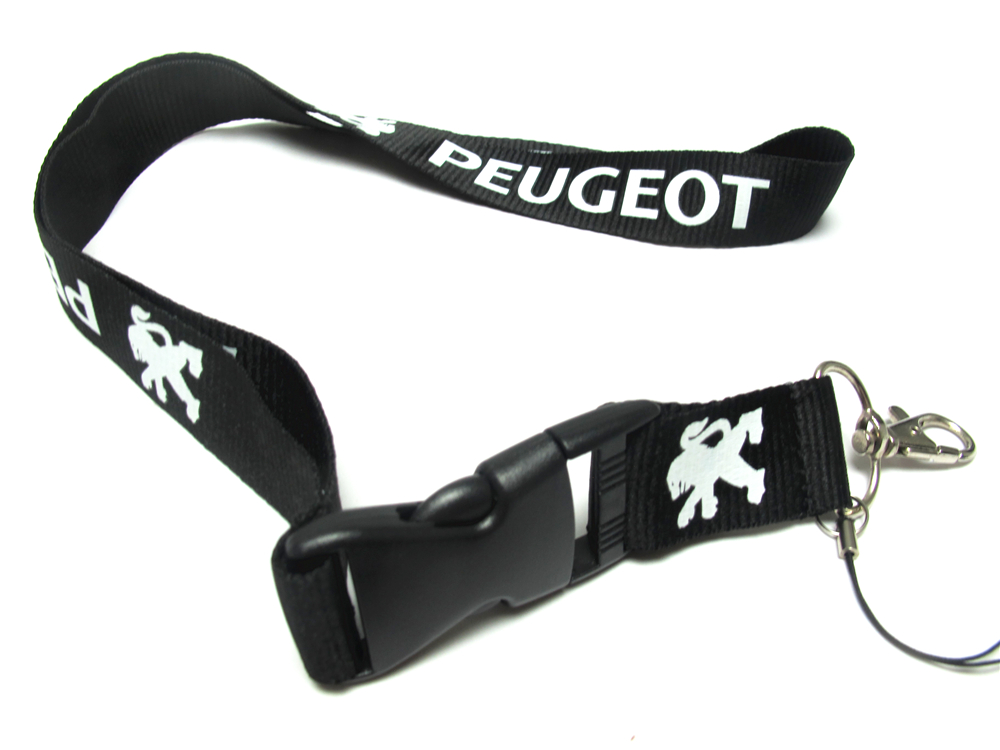Men's  Car Logo PEUGEOT Lanyard For Keys ID Badge Holders  Mobile Phone Neck Straps For PEUGEOT
