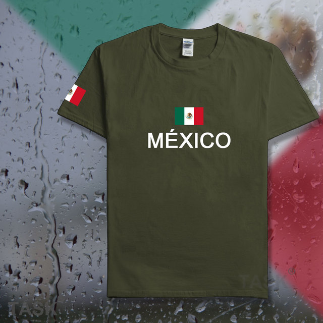 ee6fed4c7 United Mexican States Mexico t shirt men casual jerseys 2017 t-shirts 100% cotton  nation team cotton fans streetwear fitness