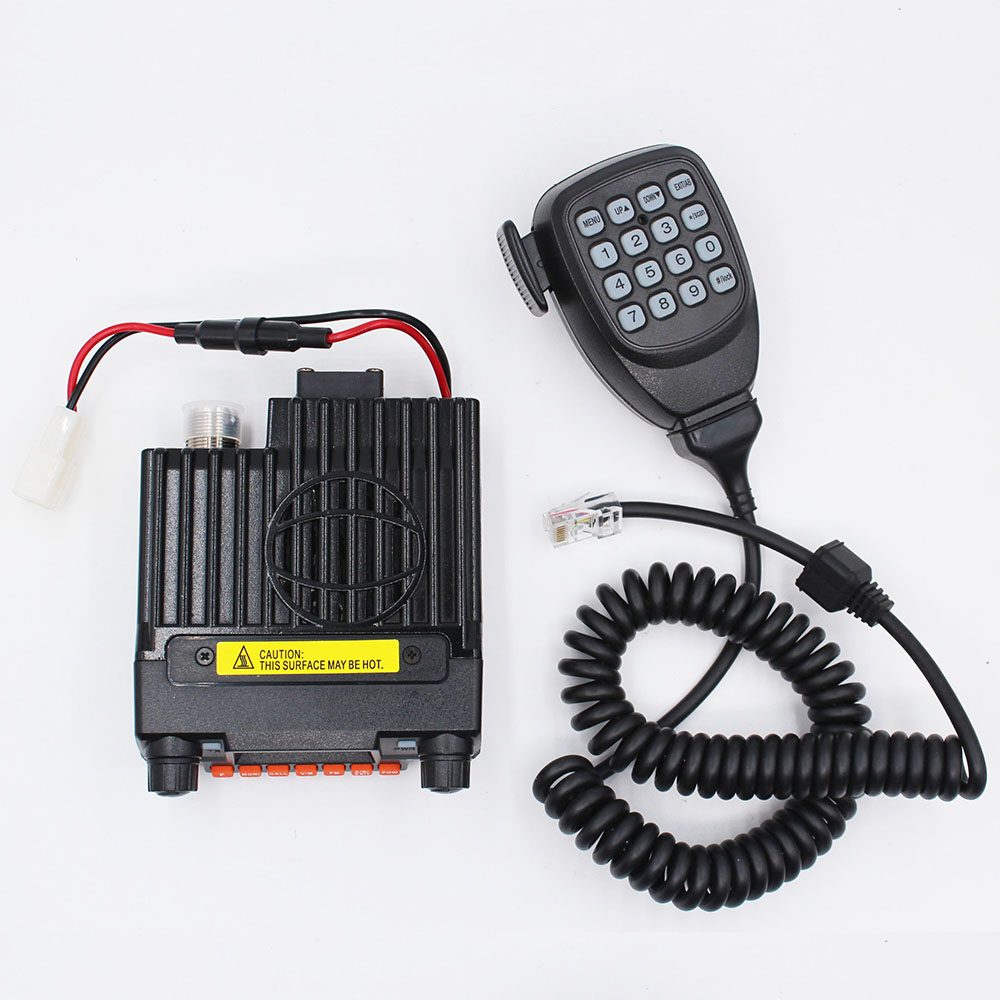 Mini 9800R 25W Mini Mobile Radio with 136/240/400MHz Tri bands replace QYT KT 8900R BAOJIE BJ 218 UHF VHF Vehicle Radio-in Walkie Talkie from Cellphones & Telecommunications