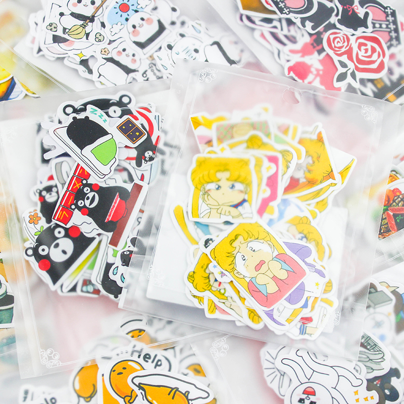 Different Style Animal Mini Paper Sticker Decoration DIY Ablum Diary Scrapbooking Label Sticker Kawaii Stationery 40pcs lot new korea lovely animal style diy multifunction paper sticker decoration seal label