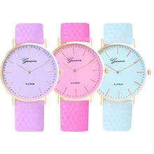 Fashion design clock in direct sunlight change color sports casual watc