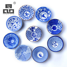 TANGPIN blue-and-white japanese ceramic tea cup for puer teacup porcelain chinese kung fu tea set